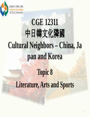 Topic8cv Literature, Arts and Sports.pptx