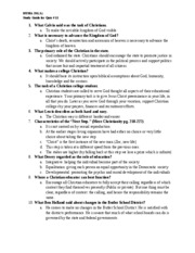 Study Guide for Quiz 11