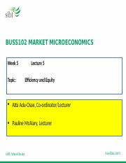 WEEK 5 BUSS102 Ex-Ante_LECTURE 5_Market Efficiency
