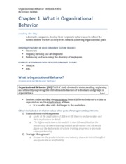 Organizational Behavior Textbook Notes