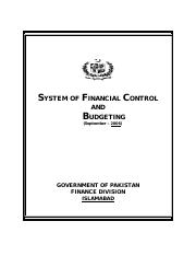 System of Financial Control and Budgeting (Publicatin of Finance Division GoP, September - 2006).pdf