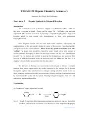 2016 2150Ex5 Organic Synthesis by Grignard Reaction v3a