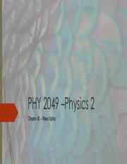 Lecture_Ch 22 - Wave Optics