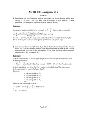 ASTR 103 Fall 2012 Assignment 4 Solutions