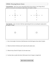 Worksheet - Picturing Electric Forces