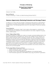 Principles of Marketing_Writing Project Guidelines_Fall 20150818