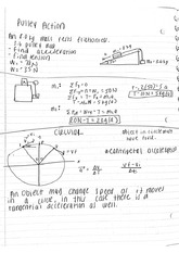 Pulley Action Notes