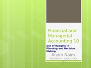 Financial and Managerial Accounting 10