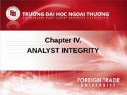 Chapter IV ethics Analyst Integrity