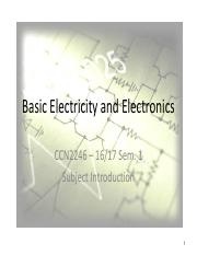 CCN2246 Basic Electricity and Electronics pdf - June 2015