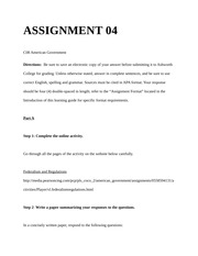 american gov assignment 4