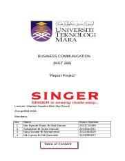 Business Communication Business Communication Mgt 269 Report Project Lecturer Madam Hazelen Binti Mat Rusok Group Bm1192a Members No 1 2 3 4 Name Nur Course Hero