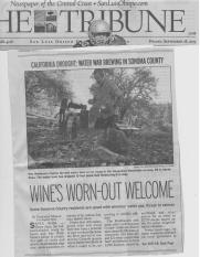 Sonoma Water Wine Article