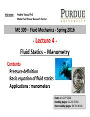Lecture 4 - Fluid Statics manometry class(1)