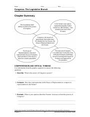 Gov Ch 5 Interactive Reader and Study Guide  Summary
