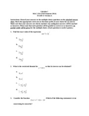 MAC 2311 Test 4 Fall 2014