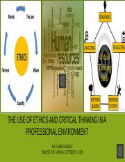 PHIL250 The use of ethics and critical thinking inHR Candi Cassidy.pptx