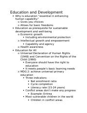 Education and Development.docx