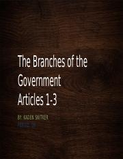 The Branches of the Government