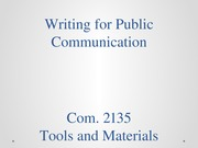 Writing for Public Communication 82814