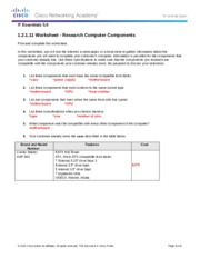 1.2.1.11 Worksheet Solution - Research Computer Components