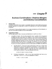 09 - business combinations - statutory mergers & consolidations