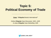 g202 Topic 5  Political Economy of Trade notes