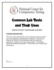 Common Laboratory Tests and Their Uses.pdf