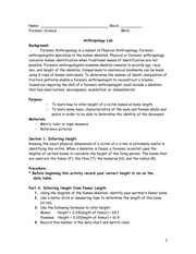 Skeletal Lab Worksheet