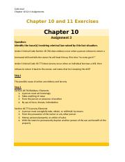 Chapter 10 and 11 Assignments.docx