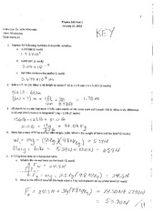 Phys 160 Test 1