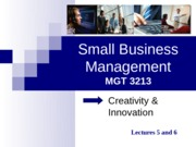Small+Business+Management+slides+(lecture+5+and+6)
