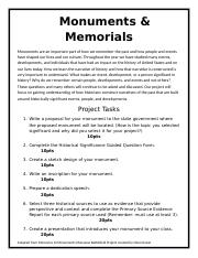 Monuments and Memorials Project.docx