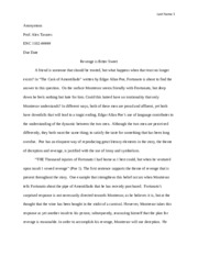 la paper essay the interlopers by saki and the cask of  4 pages poe sample essay 2