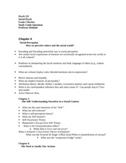 Study Guide Exam 2 231  Fall 2014