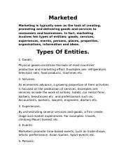 Marketed Entities.rtf