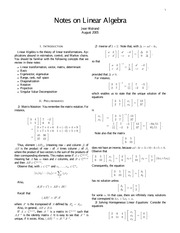 Notes on Linear Algebra