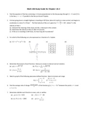 Math 106 Final Exam Study Guide Part 1