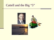 Cattell PPT with class notes