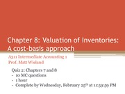 Accounting A311 Chapter 8 Valuation of Inventories Cost-Basis Approach Pt.2 Class Notes