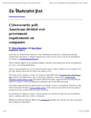 7-6-12 Washington Post Americans divided over government requirements on companies