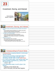 LECTURE 23 - 23_Investment_Saving_and_Interest - FINAL (SUPPLEMENT)