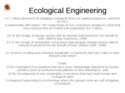 ENST 360 Lecture 11 Ecological Engineering