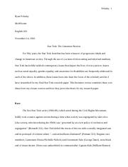 Star Trek_The Literature Review - ENG 102