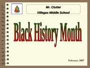 February Black History Month 2007