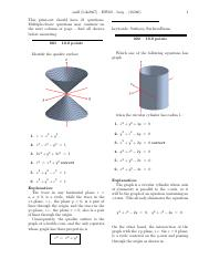 HW 9 Surfaces, Traces, Vector Equations (w solutions).pdf