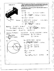 865_Mechanics Homework Mechanics of Materials Solution