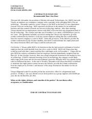 Prof Lee_Contracts II Spring 2015 Final Exam Essays WITH ISSUE ANALYSIS