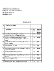 LIBRARY BOOK SUPPLIERS EVALUATION LIST