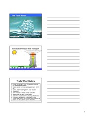 Lecture 8 on Trade Winds